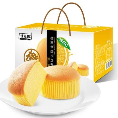 优米熊橙汁蛋糕,1kg/箱,家庭 办公室早餐营养休闲零食,