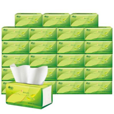 【耘凡兔946】心相印抽纸茶语纸巾家用卫生纸实惠纸抽24包整箱130抽
