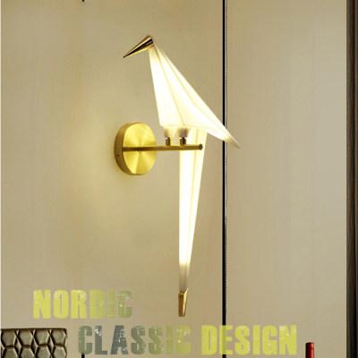 天猫同价现代约小鸟千纸鹤压克力LED壁灯适用餐厅卧室