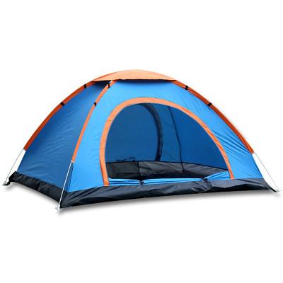尚龙自动帐篷 3-4人全自动速开帐篷 大号双开门纱门纱窗