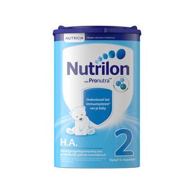 【耘凡兔013】荷兰牛栏适度半水解蛋白奶粉HA 2段诺优能防过敏腹泻特殊配方奶粉2罐装