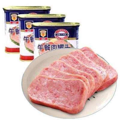 上海梅林经典午餐肉罐头340g即食夜宵夜速食小吃特产方便面螺蛳粉【优品】