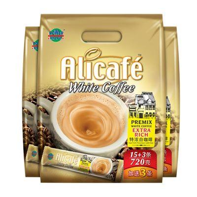 马来西亚进口 啡特力(Alicafe)白咖啡特浓三合一速溶