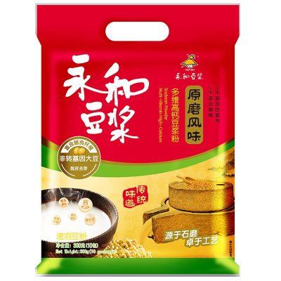 永和豆浆 原磨风味 **高钙豆浆粉300g非转基因大豆10包